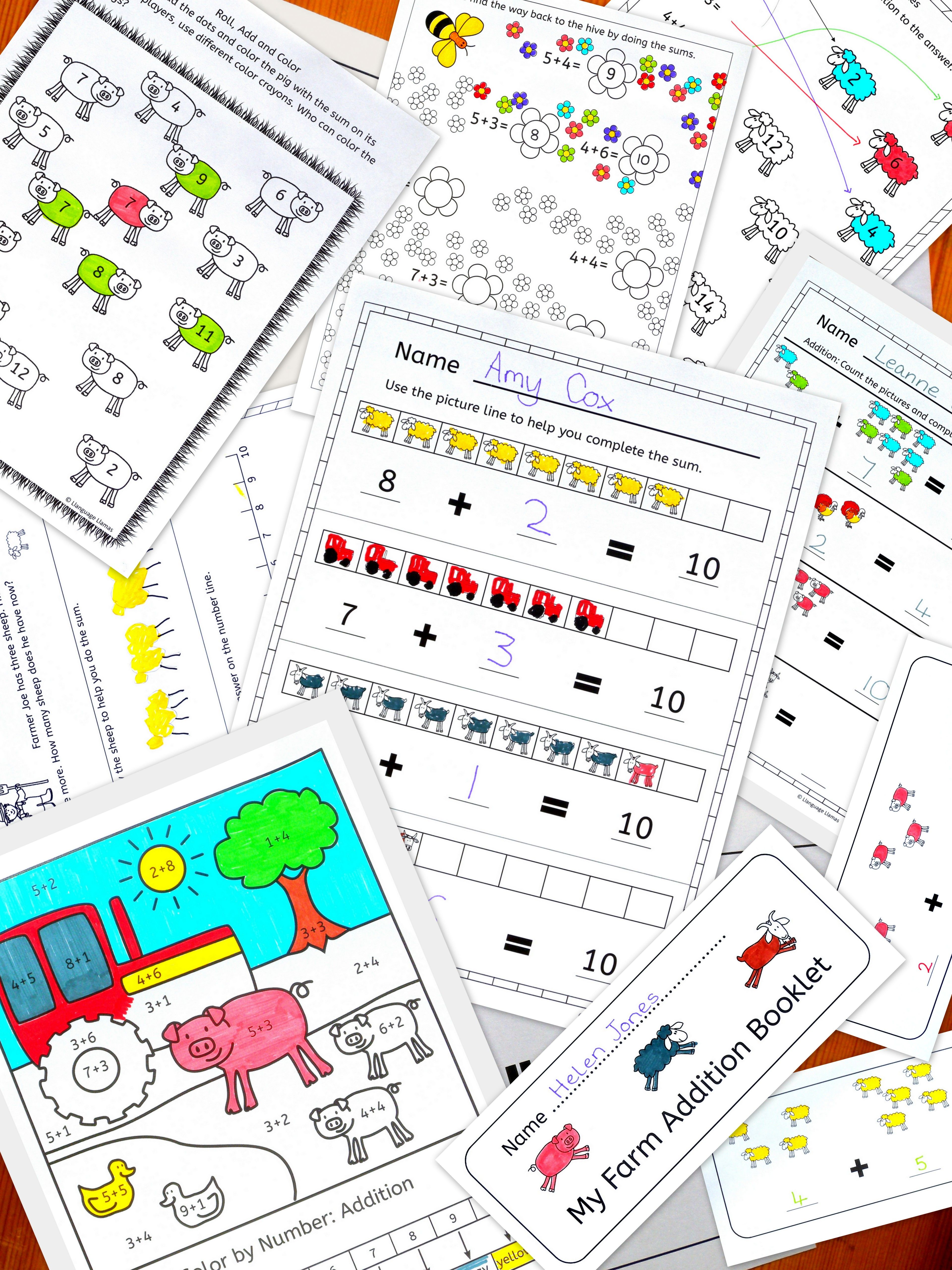 Farm Addition Worksheets And Activities Including Fun