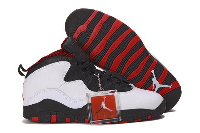 fcfbc68b8f3ba0 Nike Air Jordan 10 X Retro Chicago Mens Shoes White   Varsity Red   Black