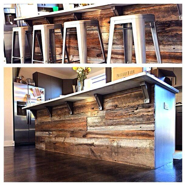 outstanding reclaimed wood kitchen island   barnwood kitchen island barn diy   Full House Remodel ...