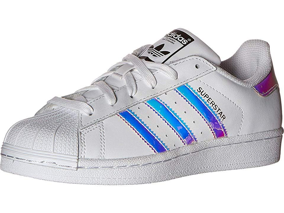 adidas superstar j white metallic silver