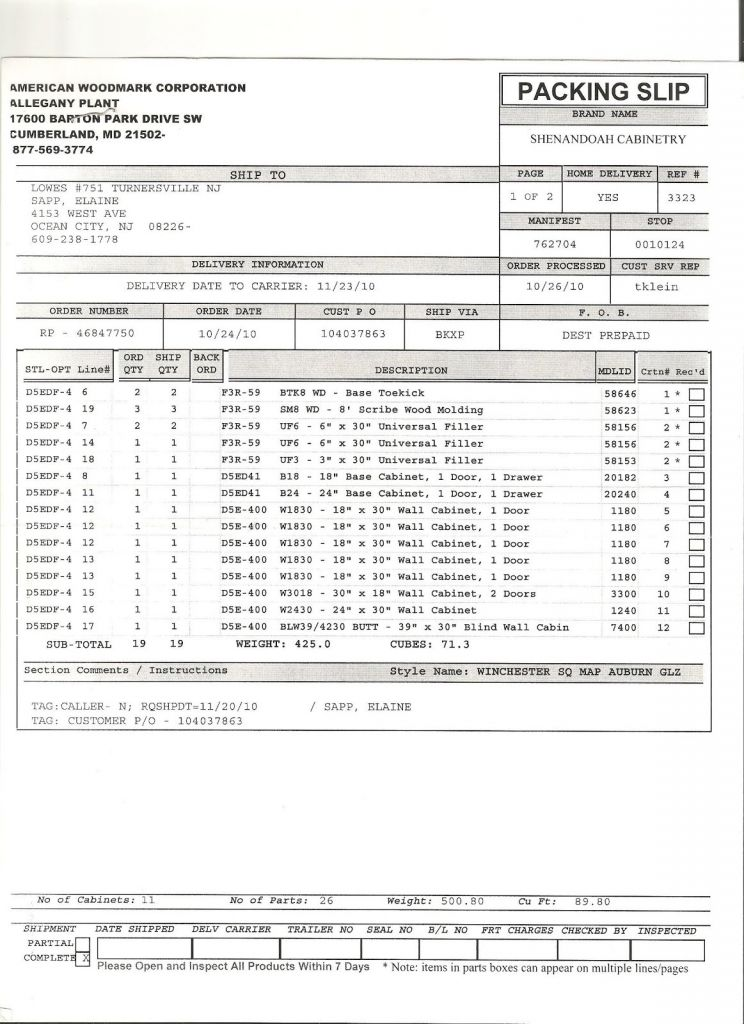 Kitchen Cabinet Invoice And New Estimate Kitchen Cabinet