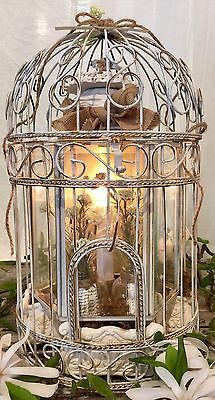 Antique White Shabby Chic Birdcage For Home Decor Ebay White Shabby Chic Bird Cage Decor Shabby Chic Frames