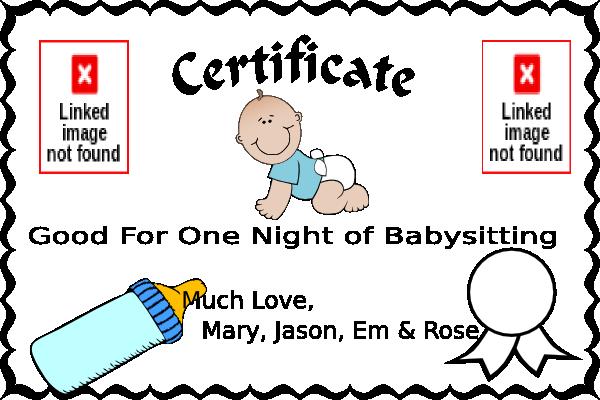 FreeBabysittingCouponClipArt  Baby Setting    Clip
