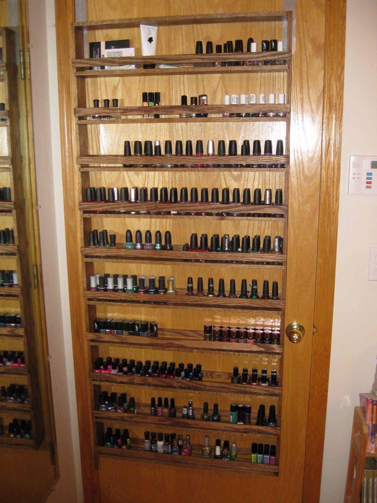 Nail polish rack to hang on a door   Organization   Diy ...
