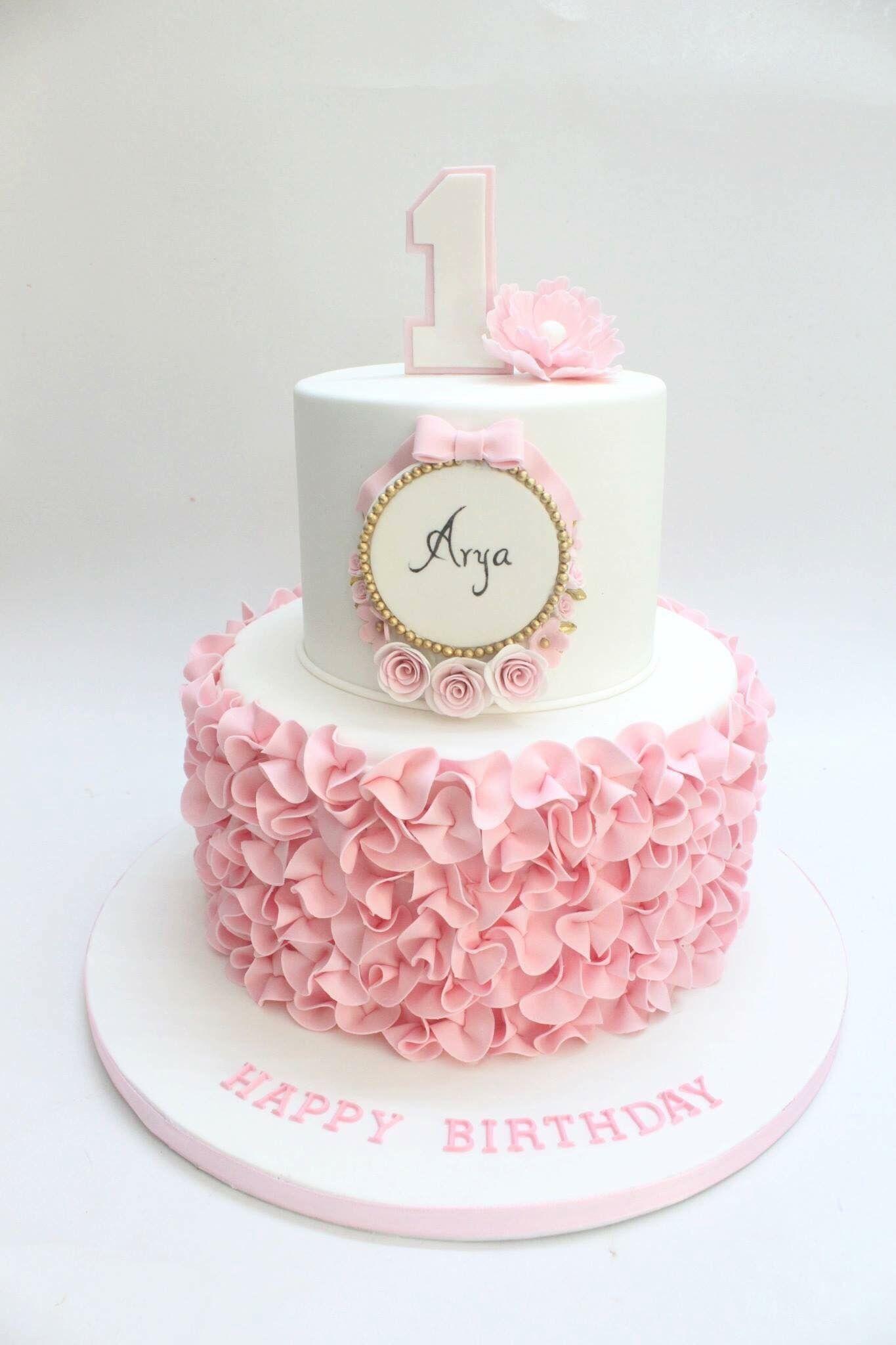 Pin By Navya On Cakes Baby Birthday Cakes Birthday Cake Girls