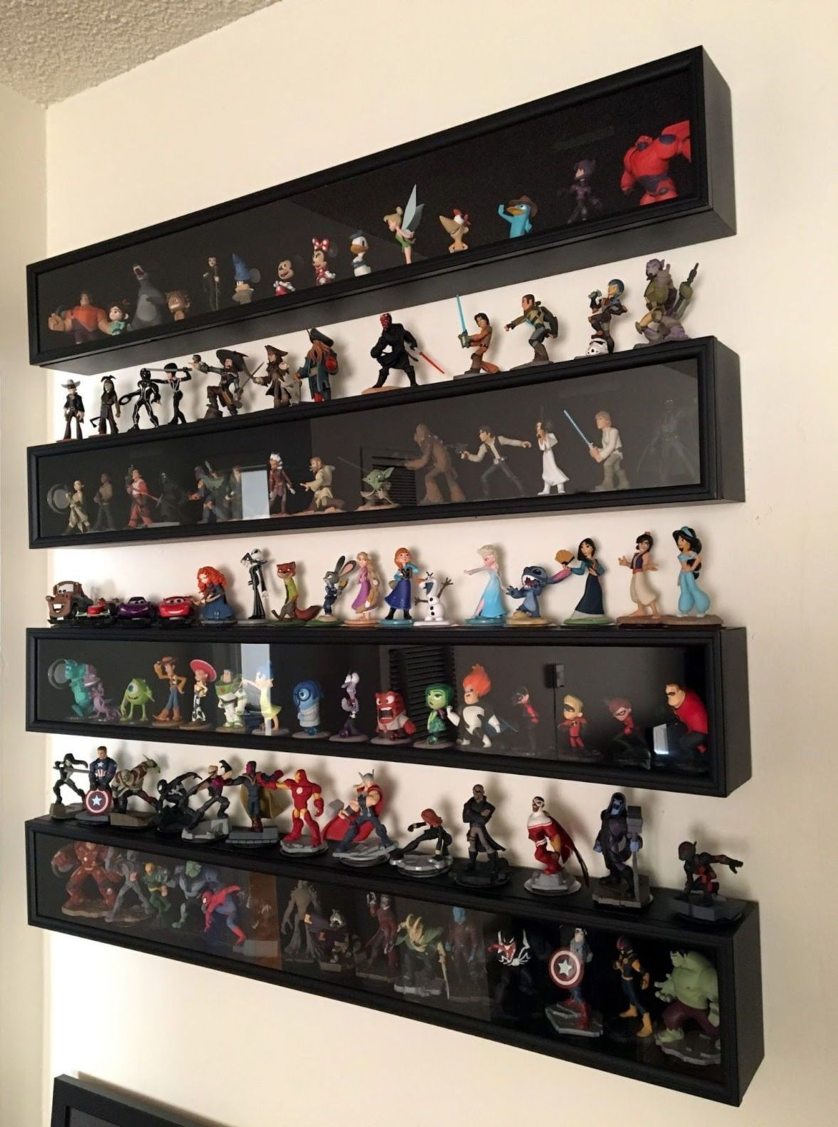 Display Case Diy How To Make Diy Display Cases Design Diy Display Case Wood Diy Display Case Shadow Box Disney Infinity Figures Diy Display Diy Shadow Box