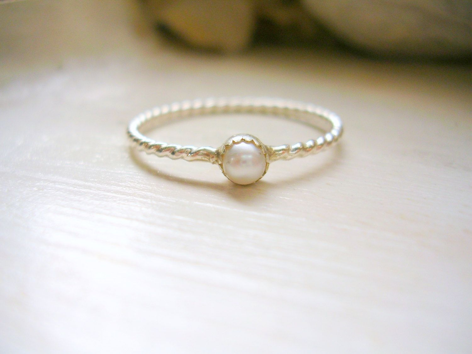 Ring · Sterling Silver Pearl