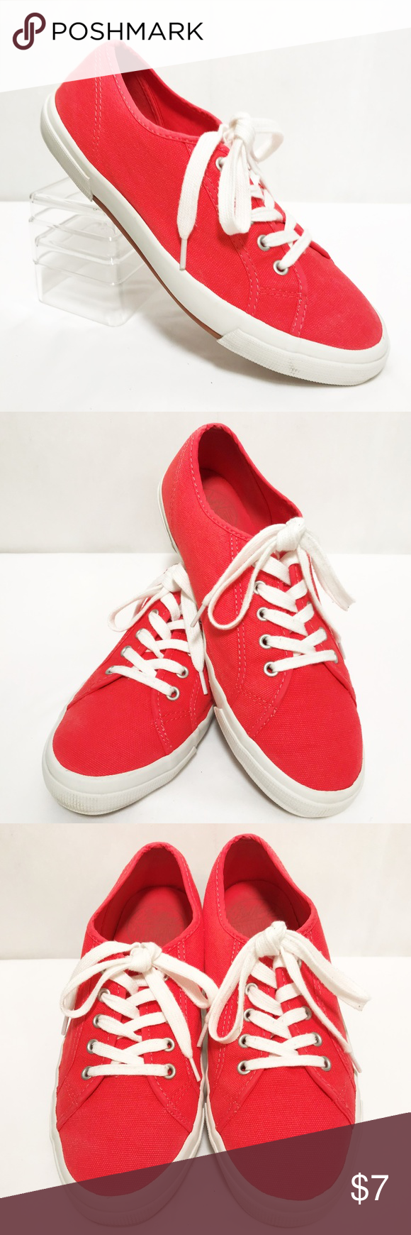 f5873a18a597 Old Navy Coral Tennis Shoes Womens Sz 9 Old Navy Coral Tennis Shoes A15-18