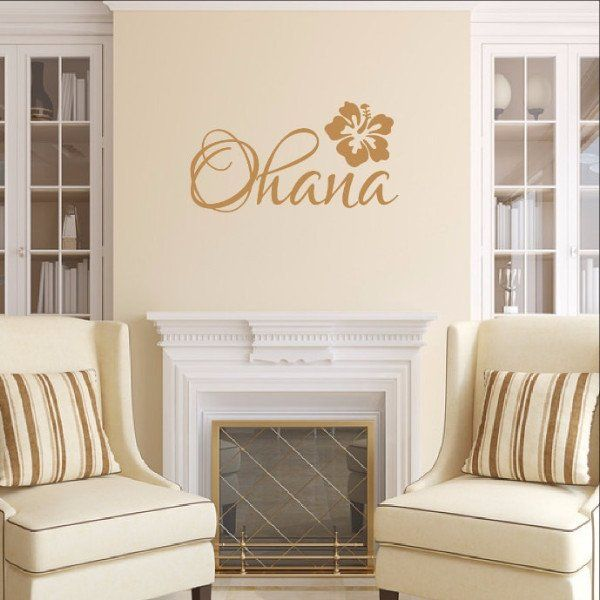 Ohana Vinyl Wall Decal Ohana Wall Decals And Hawaiian Decor - Custom die cut vinyl wall decals