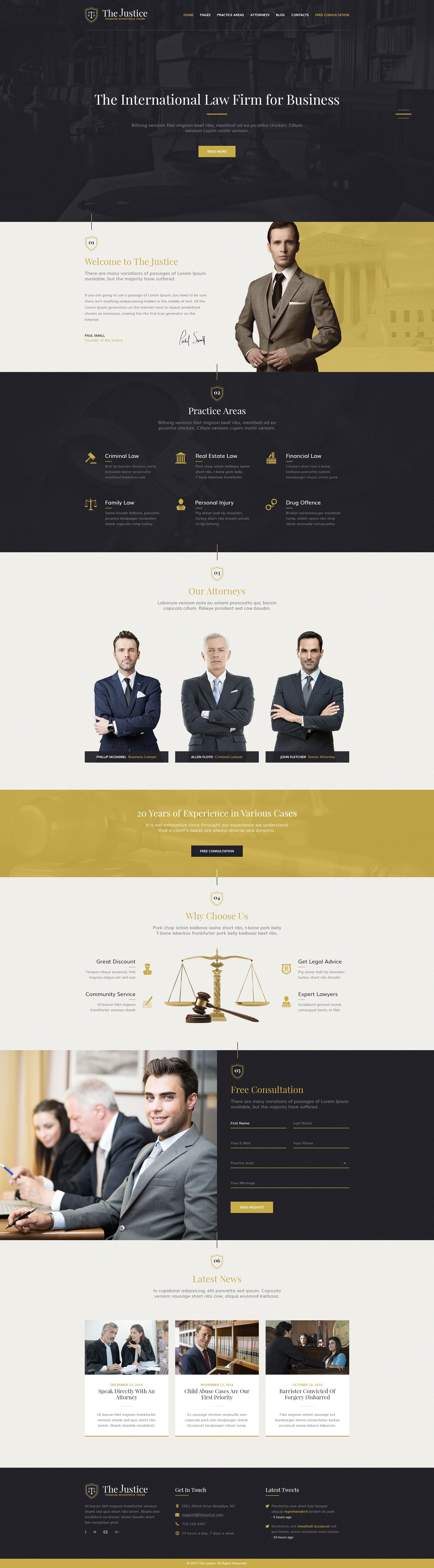 Justice - new PSD template for Advocate, Barrister, Attorney, Law ...