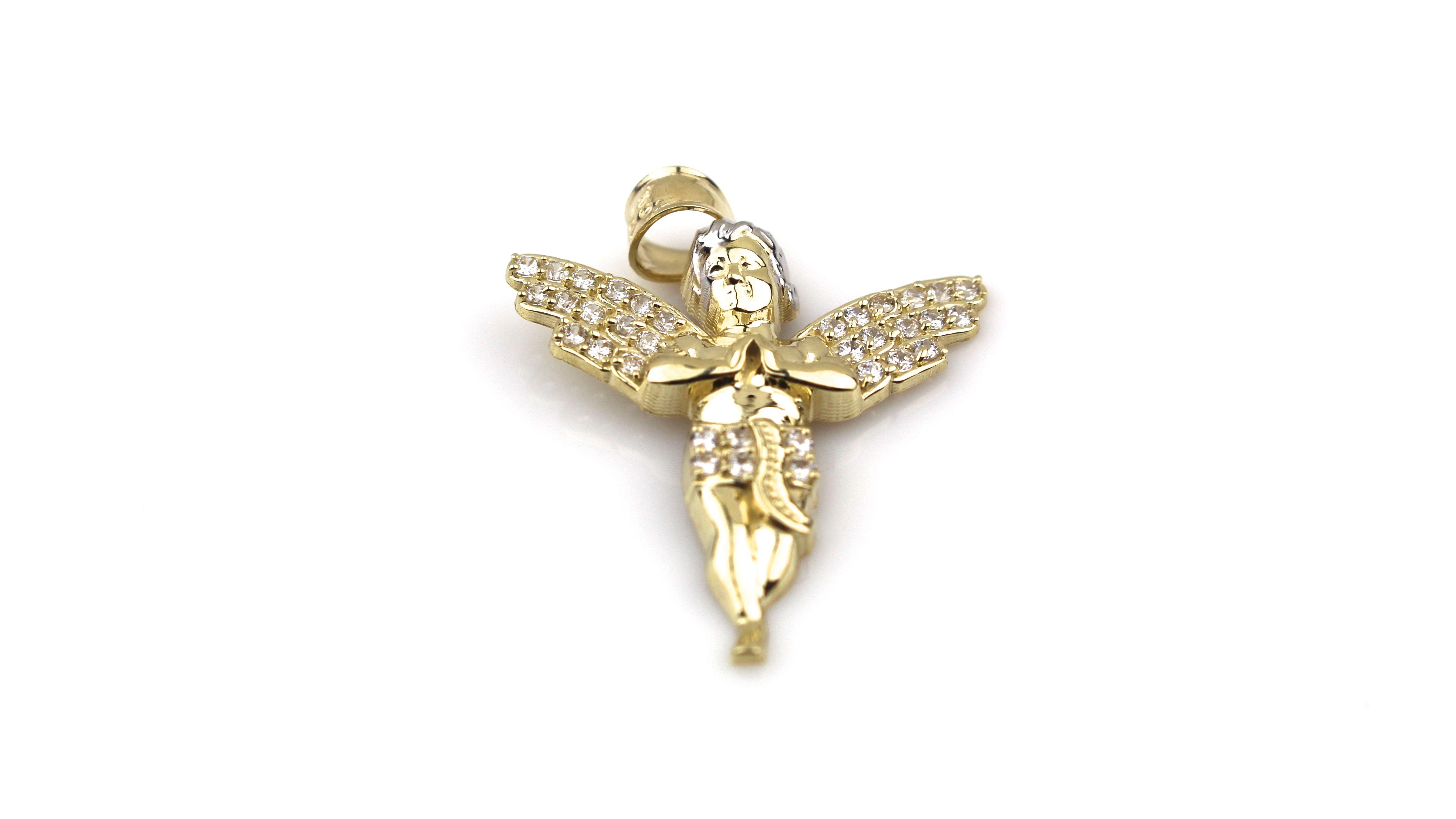 10 Karat Gold Angel Charm Angelic isnt it 10 Karat Gold