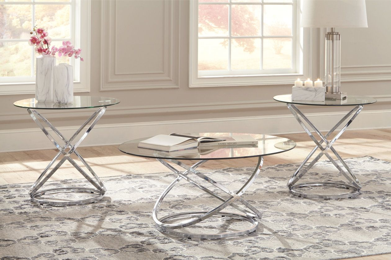Hollynyx Table Set Of 3 Ashley Furniture Homestore Tempered