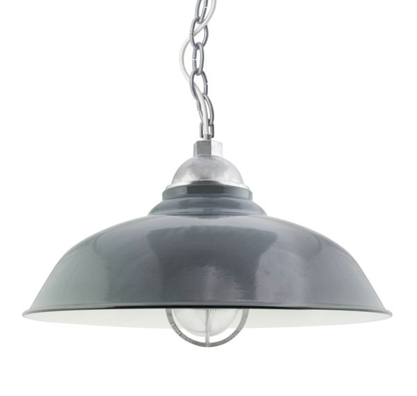 The Chicago Vintage Chain Hung Pendant Barn Light Electric