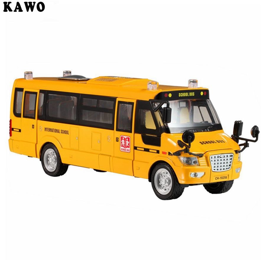 School Bus Metal Toy Kawo Pull-Back Action Bright Yellow Us School Bus With Light u0026 Music Metal Large Toy Vehicles With LightsMusic And 5 Open-Able Doors  sc 1 st  Pinterest & KAWO Pull-Back Action Bright Yellow US School Bus with Light u0026 Music ...