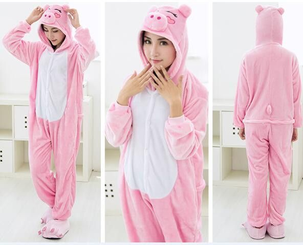 21b89edd01 Unicorn Unisex Flannel Hooded Pajamas Adults Cosplay Cartoon Cute Animal  Onesies Kigurumis Sleepwear Hoodies