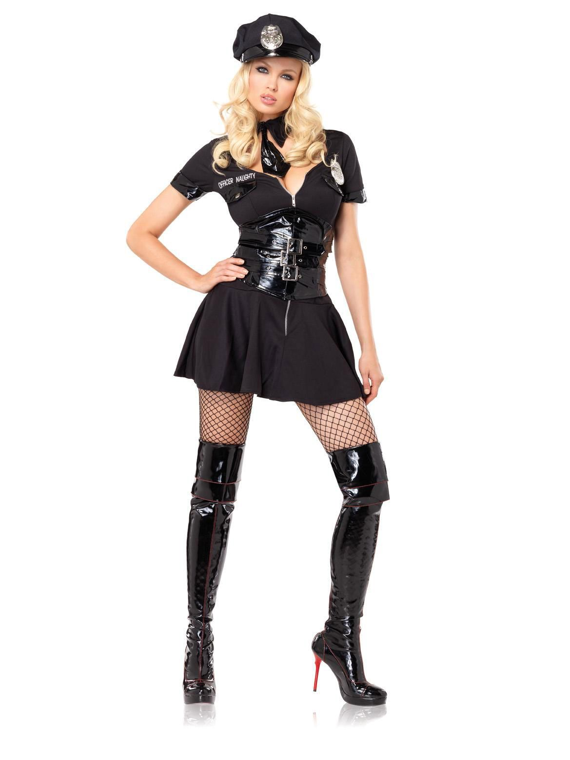 ed0c6b0abcb Police officer 4pc Officer Naughty costume includes dress tie hat ...