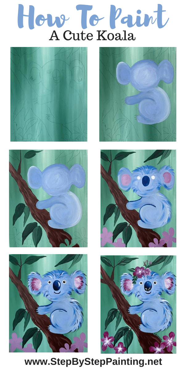 Koala Painting Step By Step