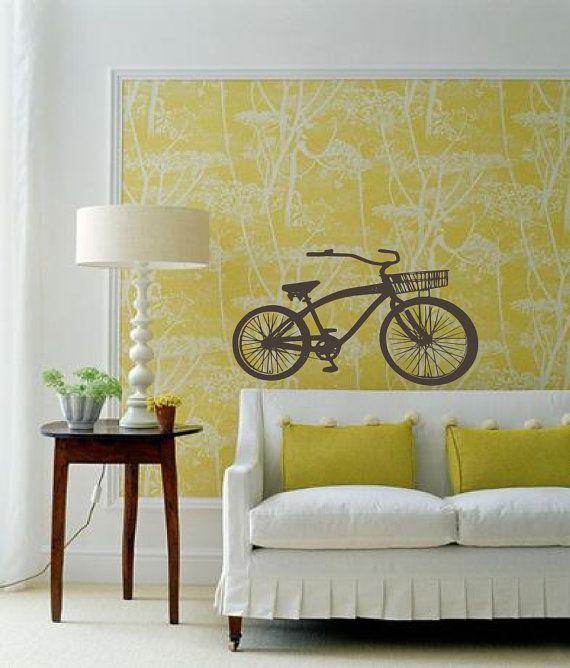 A #bike in your living room. #decor. I like the lamp. The bike ...