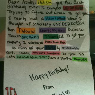 One Direction Birthday card good ideas Pinterest