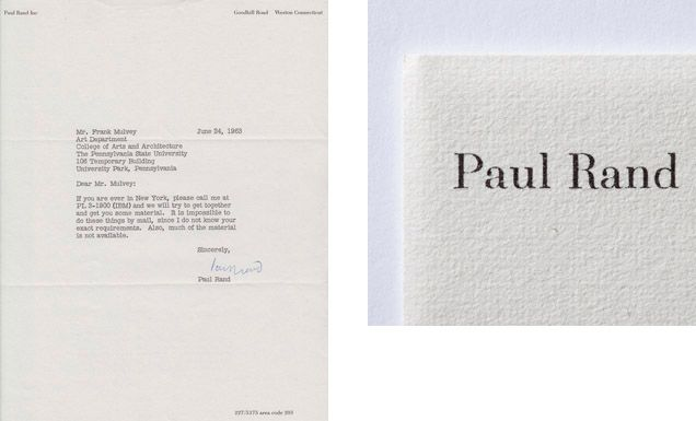 Paul Rand Business Card Google Search Graphic Packaging Design