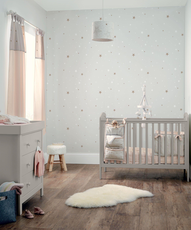 Dover 2 Piece Nursery Furniture Set With Cot Dresser Changer Grey