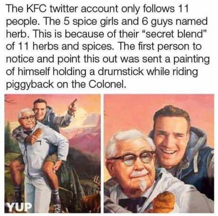 Photo of Observation of the man who follows KFC on Twitter leads to epic …