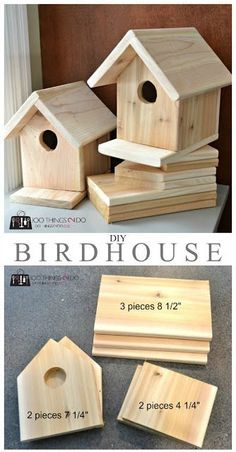 DIY Birdhouse | Bird houses diy, Woodworking projects diy ...