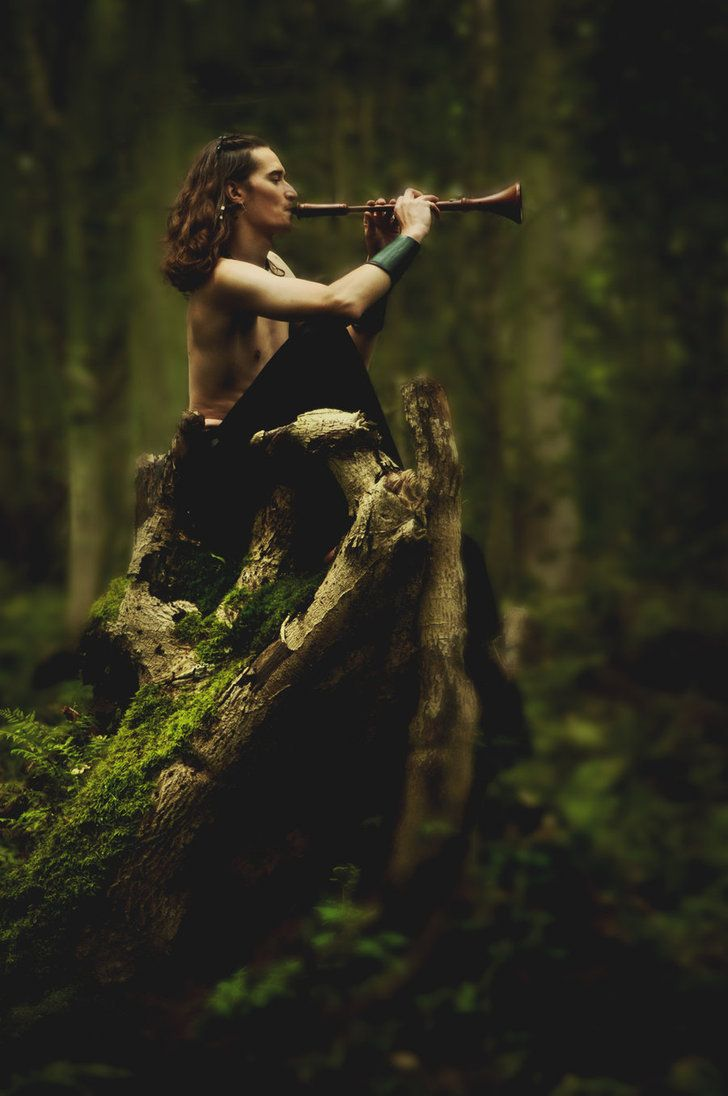 ...His music is truly beautiful. He plays it for the forest to stay calm. He stops it from attacking us...