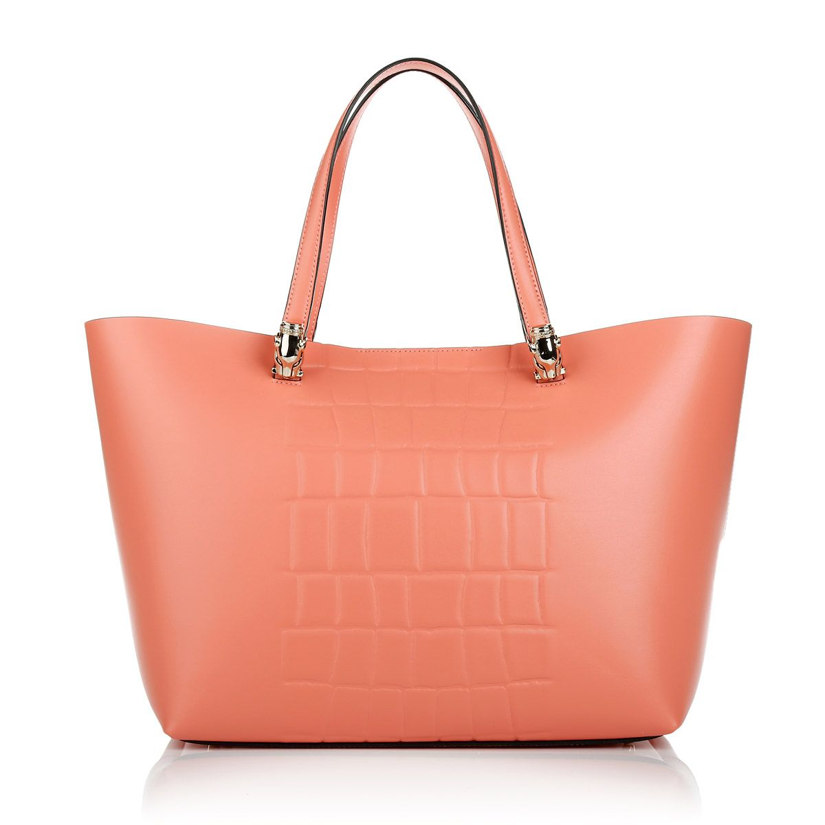 Such a light and pretty color to wear in summer. Cavalli Class Panthera Bag  in Coral. Fashionette.de fc29cedff1a44