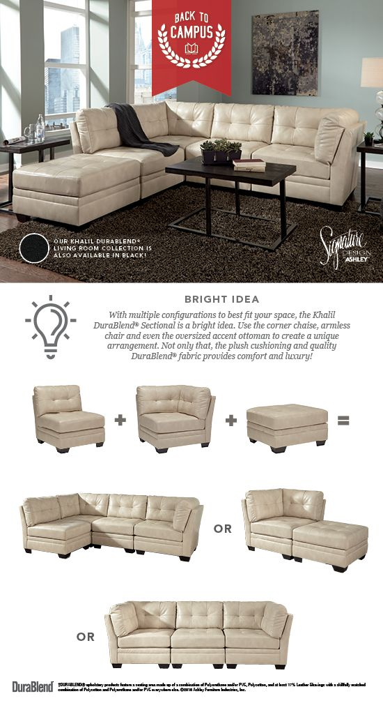 Khalil Durablend Taupe Sectional Back To Campus Style Back To School Furniture And Accessories Ashley Furniture Ashleyfurni Ashley Furniture Industries Furniture Home