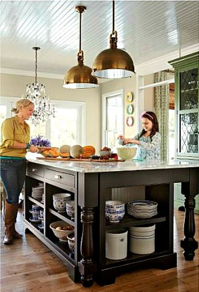 Edie's House in Better Homes and Gardens...I would love to have an island like this great one!