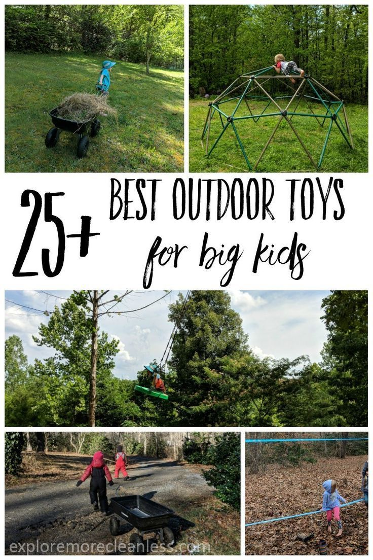 25 Outdoor Toys For Big Kids See Ideas For Keeping Older Kids Engaged Once They Ve Outgrown Water Tables Outdoor Toys For Kids Diy Outdoor Toys Outdoor Toys
