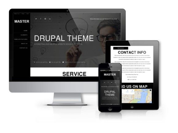 Master - Drupal Responsive Theme. Drupal Themes. $5.00