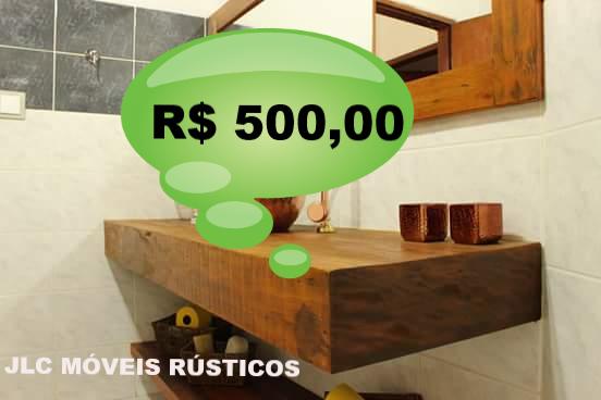 Apoio de madeira de demolição peroba rosa para cuba.  Medida: 1,10 x 40 com saia de 20.  R$ 500,00 Reais.