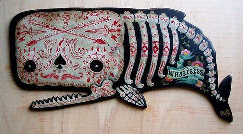 badass whale bone tattoo