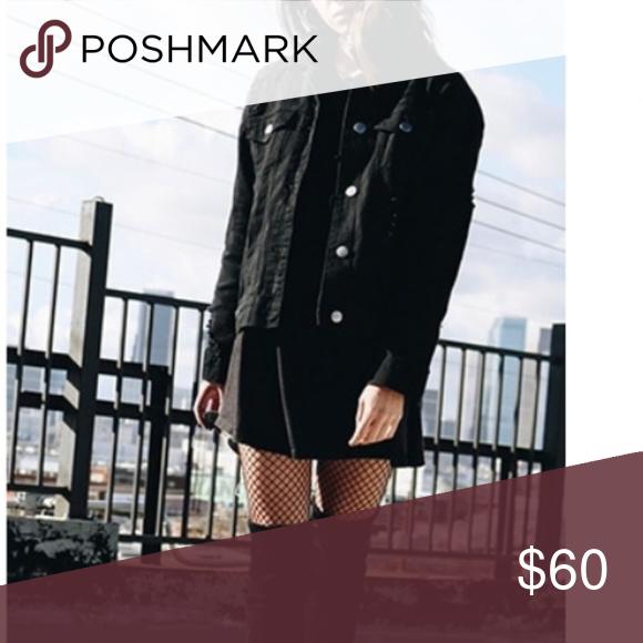 Distressed black Denim jacket Never worn Jackets & Coats Jean Jackets