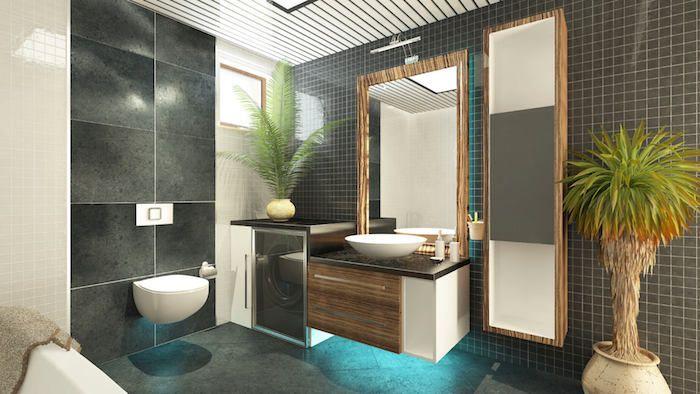 Palmen, die auch im Badezimmer wachsen können blaues Licht - pflanzen für badezimmer