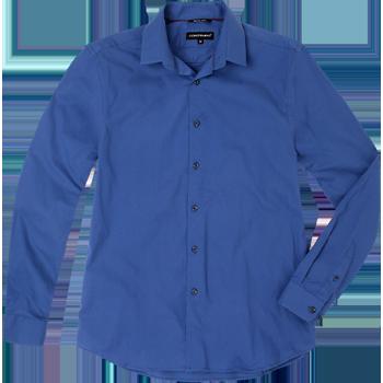 Contempo. Modelo: G814E0720303FIR. Camisa lisa, manga larga, corte slim.