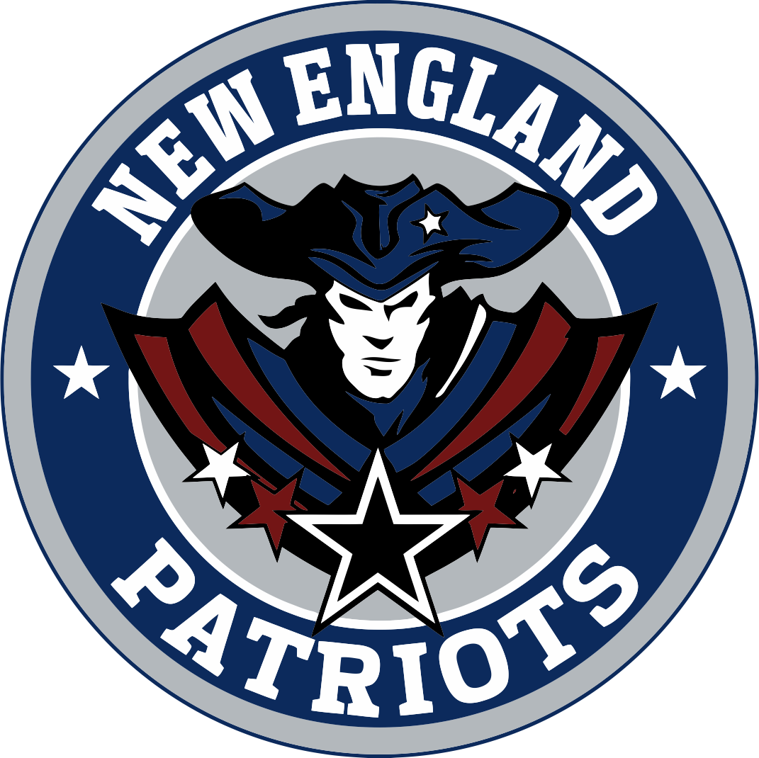 New England Patriots Vector Logo Airbrush Vinyl Stencil Esportes