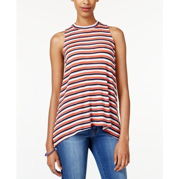 415a0a78748f78 Almost Famous Juniors  Striped Mock-Turtleneck Top ( 11) ❤ liked on Polyvore  featuring tops