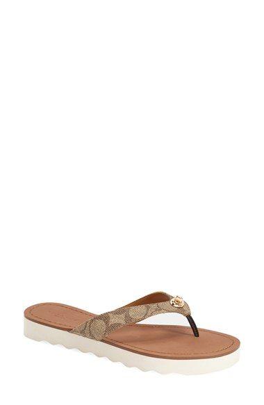cb5faa0d2fe3 COACH  Shelly  Logo Flip-Flop (Women).  coach  shoes  sandals ...