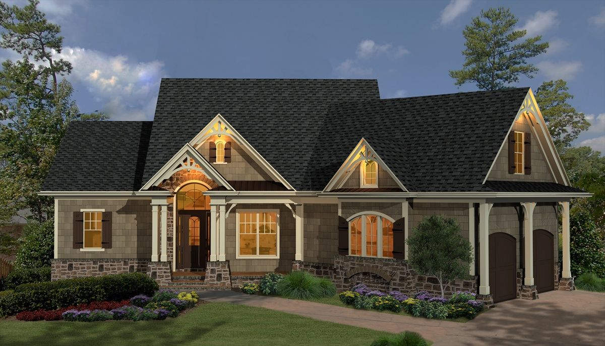 Country craftsman style house plans