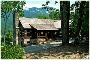 The Lodge at Table Rock State Park is one of the finest examples of parkitecture in the South Carolina State Parks.  Originally built by the CCC, The Lodge has been carefully restored.  Pickens, SC