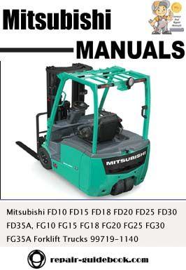 mitsubishi fg15 forklift service manual