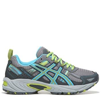 ASICS Womens GelVenture 5 Trail Running Shoes SilverTurquoise 95
