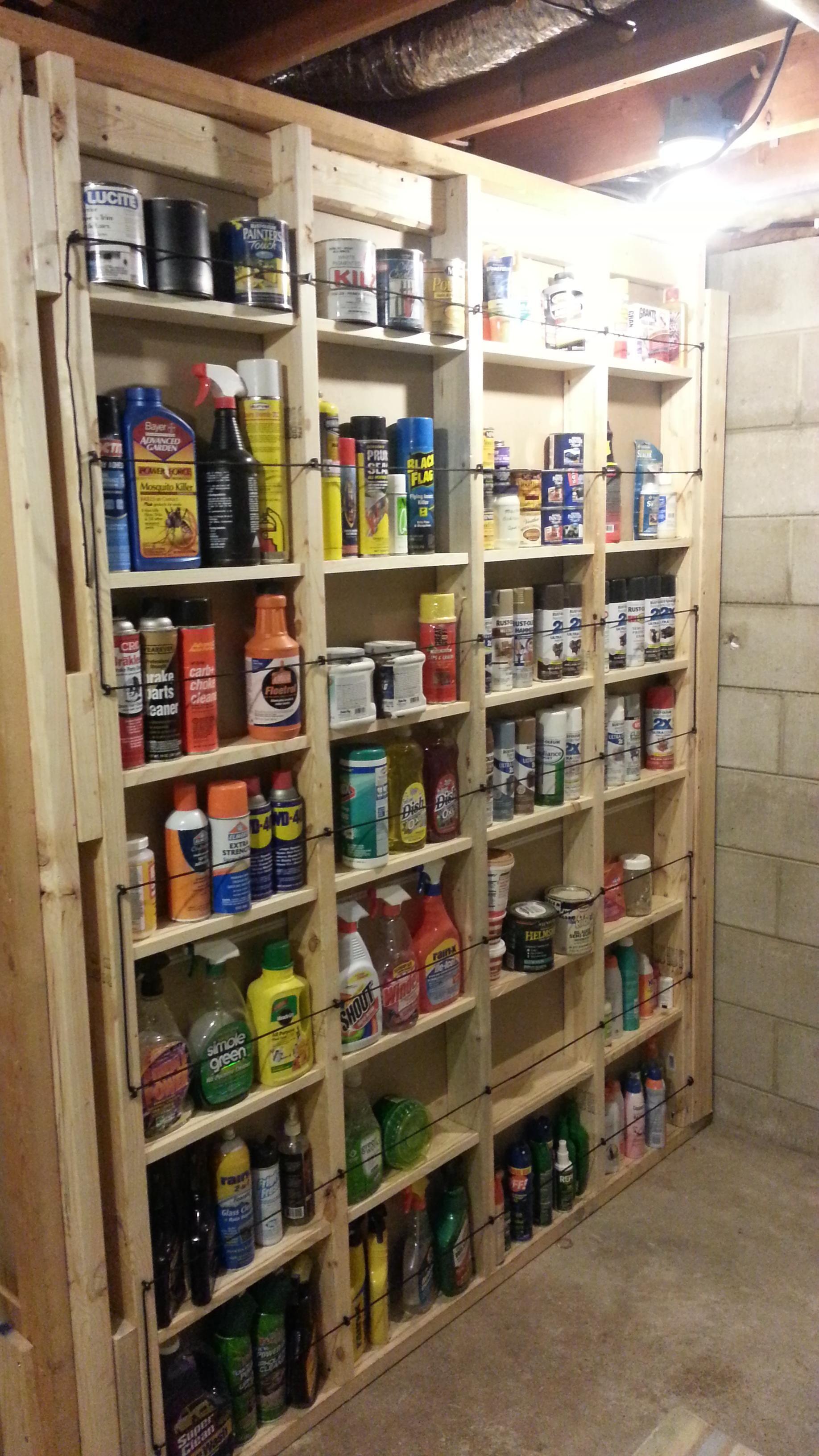Built some shelves behind a closet between the studs.