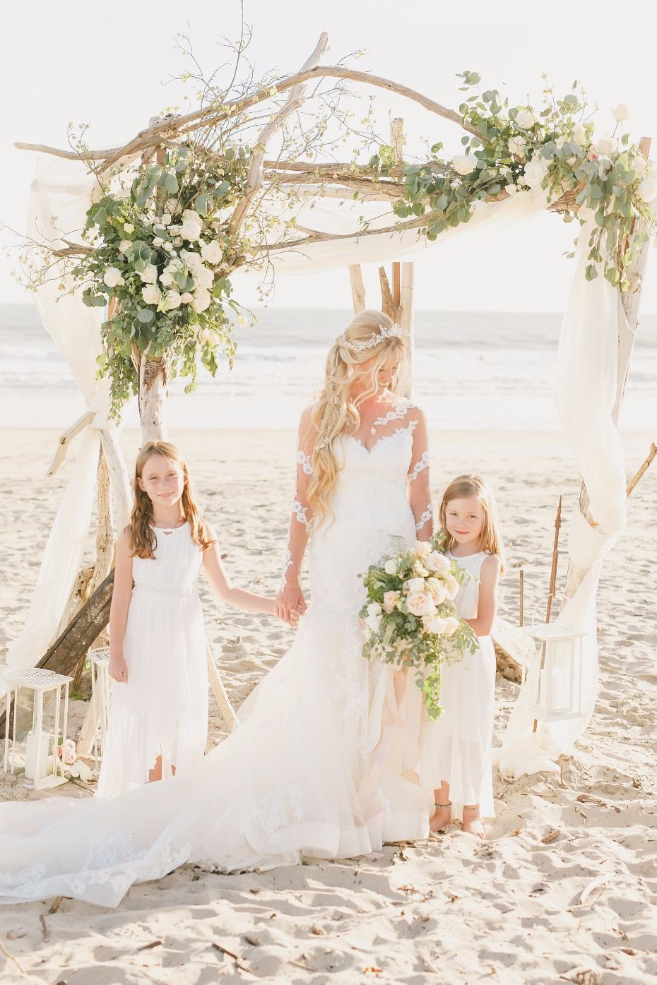 Elegant English Garden Wedding Meets Sun Soaked California Beaches