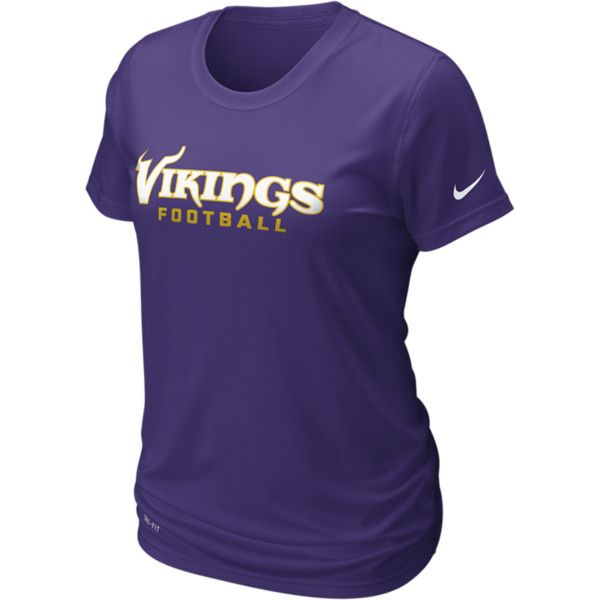 ... fashion 6ab3a 9fa5f Nike Legend Authentic Logo NFL Minnesota Vikings  Womens T-Shirt - Court ... 9fc630db1