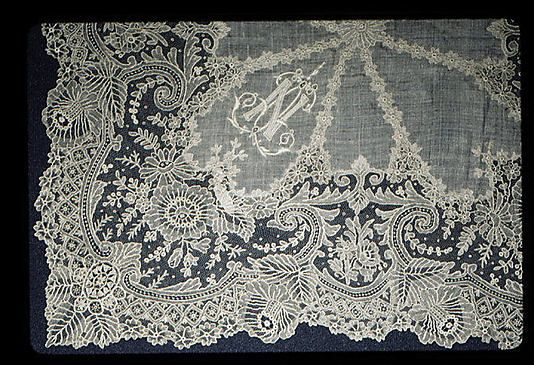 Handmade Lace - Needle Lace from Belgium 1800's