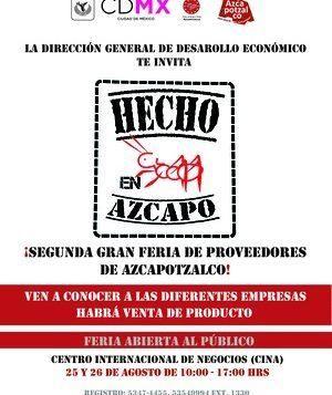 Llega la 2ª Gran Feria de Proveedores en Azcapotzalco
